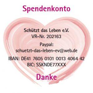 Herz mit Vereinsnummer, Paypal-Adresse und Bankverbindung